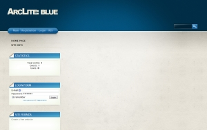 ArcLite: Blue from ucoz templates