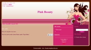Pink Beauty from ucoz templates