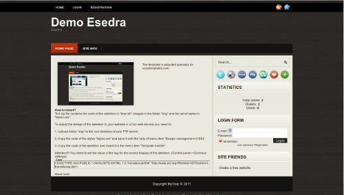 Esedra from ucoz templates