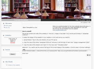 Biblio from ucoz templates