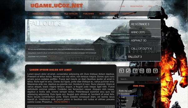 uGame from ucoz templates